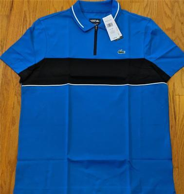 Mens Authentic Lacoste Sport Colorblock Polo Shirt Royal Blue/White 8 (3XL) $98 for sale  Shipping to India