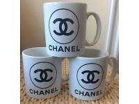 Gorgeous Set of 3 Chanel Mugs