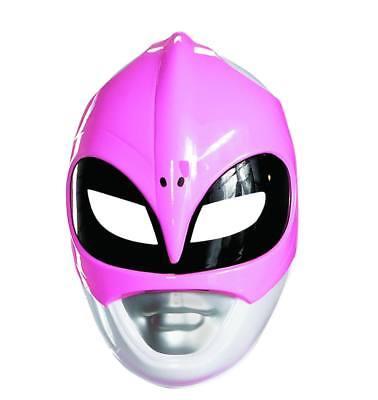Damen Erwachsene Mighty Morphin Power Rangers Plastik Pink Ranger Maske Kostüm
