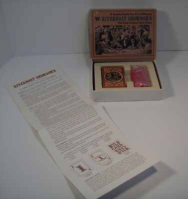 1976 Riverboat Showdown Card Game By Western Publishing Company 100% Complete!