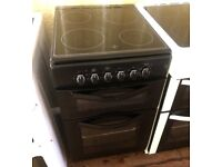 New World Black 50cm Freestanding electric cooker