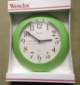 Westclox green clock