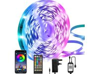 NEW LED Strip Lights 15M, Bluetooth, App and 40 Keys Remote Controller, Music Sync, SMD 5050