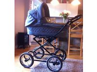 BabyStyle Prestige travel system, excellent condition, with rain cover and foot muff