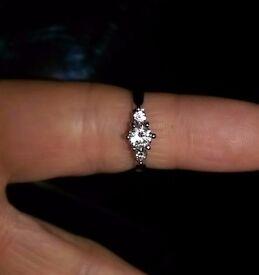 Stunning Three Diamond Engagement Ring