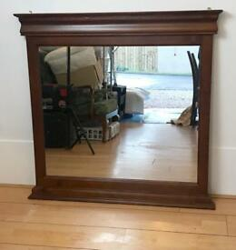 Large solid wood mirror vintage height 108 width 110cm
