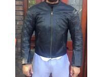 Dainese motorcycle leather jacket.