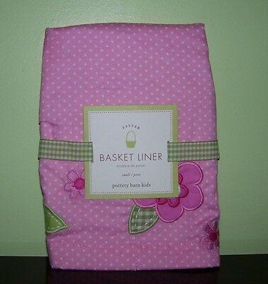 Pottery Barn Kids Pink Easter Flower Large Liner