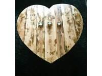 Handmade heart shaped coffee table