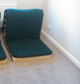 Green futon sofa bed
