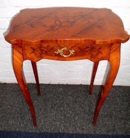 BEAUTIFUL FINE PAIR OF FRENCH LOUIS XV1 EMPIRE INLAID MARQUETRY OCCASIONAL TABLES VGC