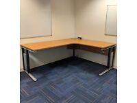 FREE SAME DAY DELIVERY - Height Adjustable Cantilever Corner Office Desks, 2000mm Wide