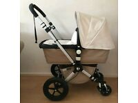 Bugaboo cameleon sand and off white with maxi cosi