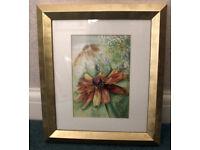 Floral artwork in Gold Frame