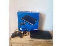 PS3 / Blu-Ray player in perfect working and cosmetic condition, like new.