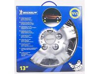 Michelin CUS12350 Wheel Trims x4 13 Inch with NVS Night Vision Security- Silver