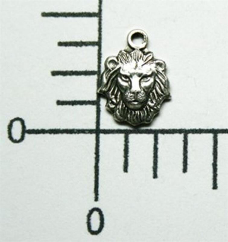 44734         4 Pc Matte Silver Oxidized Small Lion