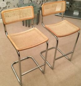 2 x Rattan Bar Stools - EXCELLENT Condition