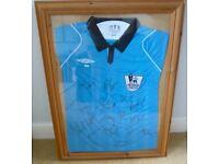 Football Referee's Premier League Shirt signed & Framed.