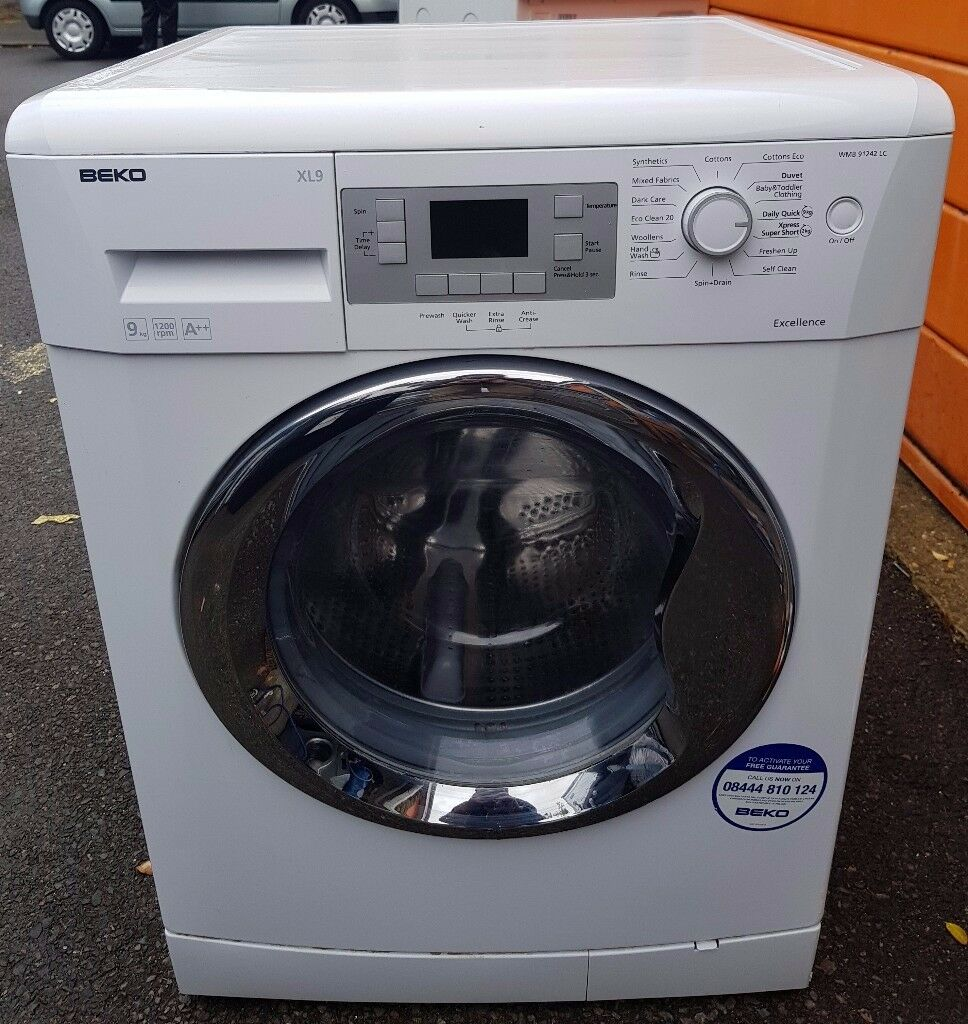 Beko large capacity 9kg washing machine - good condition - FREE DELIVERY