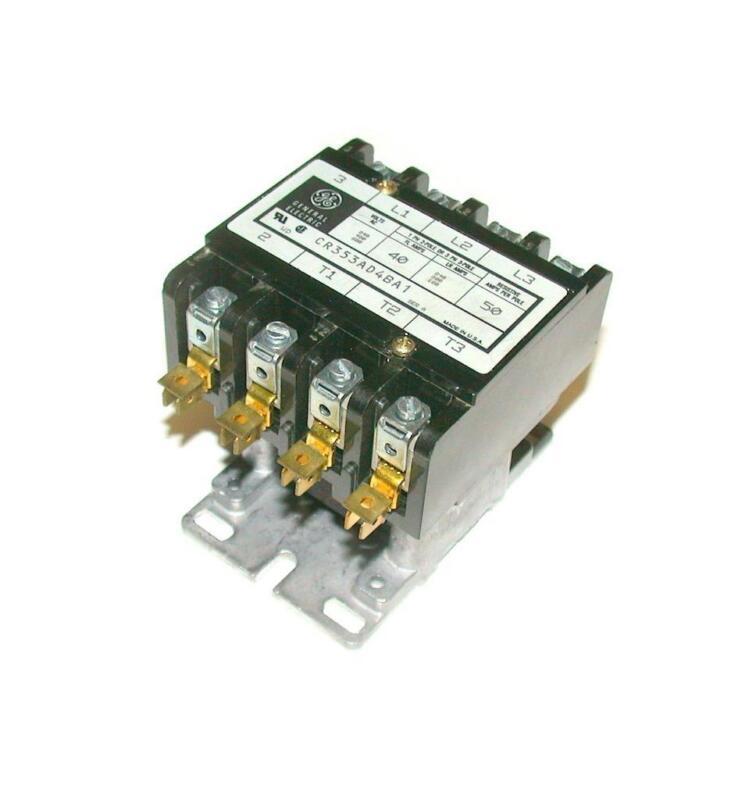 GENERAL ELECTRIC  CR353AD4BA1 110/120 VAC MOTOR STARTER RELAY 50 AMP