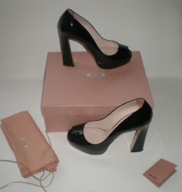 MIU MIU shoes with original box, certificate and dust bag, size 40, RRP £420, -