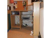 Argos beech coloured computer desk