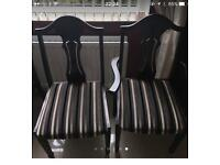 6 lovely high quality dining room chairs recently seats covered great order