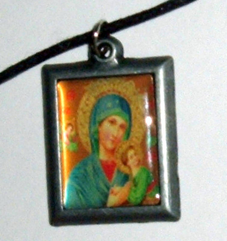OUR LADY OF PERPETUAL HELP PENDANT Metal w/Cord NEW  MARY Catholic