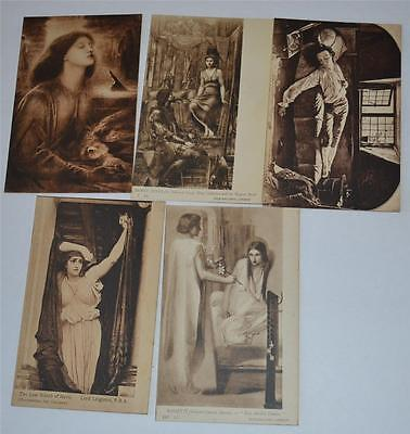 Lot Vintage Old Postcard Tate Gallery London Early Century 1900's