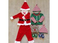 Santa & Elf Christmas dressing up outfits. Age 12-18 months.
