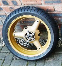 Suzuki Bandit GSF 1200 Rear Wheel & Good Metzler Tyre ZR17 180/55 and RF900