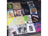 bag of vinyl records 45 rpm