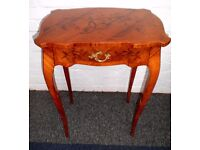 FINE PAIR OF FRENCH LOUIS XV1 EMPIRE INLAID MARQUETRY ORMOLU OCCASIONAL TABLES VGC