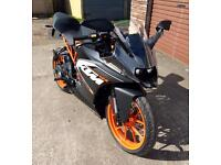 KTM RC125 as new, only 77 miles