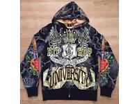 A couple of brand new rare men's large Christian Audigier hoodies. 100% authentic