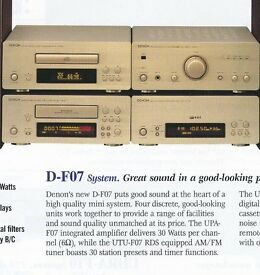 DENON STACKING HIFI PERSONAL COMPONENT SYSTEM, D-FO7