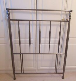 3ft Single Metal Headboard in Pewter Colour - Excellent Condition