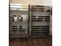 REDUCED PRICE 2 Chrome Flat Panel Radiator / Towel Rails. 880H x 500W 1092 BTU. £100 ea