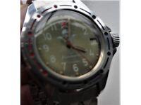 Wostok Komandirskie manual wind mechanical wristwatch - CCCP/Russia - Cal 2409 - Vintage