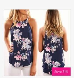 Ladies Sleeveless Floral Blouse
