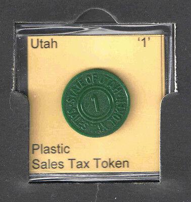 UTAH '1' PLASTIC SALES TAX TOKEN  1940s