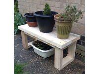 Outdoor/Garden Rustic Wooden Table