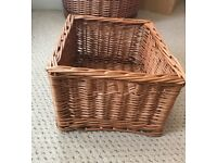 Small WHICKER STORAGE BASKET