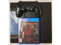 SONY PLAYSTATION 4 PS4 500GB & METAL GEAR SOLID V 5 GAME & CONTROLLER PAD