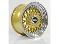 4pcs BBS RS 15 inch Rims Wheel 8J 4X100 4X114.3 Cheap Alloy wheels rim BMW car