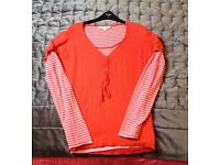 Ladies fatface size 10 layered knit jumper