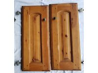 Solid Pine Cupboard Doors, Drawer Fronts & Base Unit Side Panels - Used.