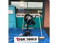 Jefferson ELECTRIC cement mixer wITH stand 130L + Bucket, Brush, Shovel & Tarpaulin ( ALOS PETROL