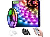 5m 5 Metre LED RGB Remote Controlled Strip Light Under Cabinet IP65 Waterproof strip
